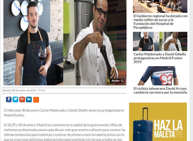 La voz del Tajo, Madrid fusion 2019