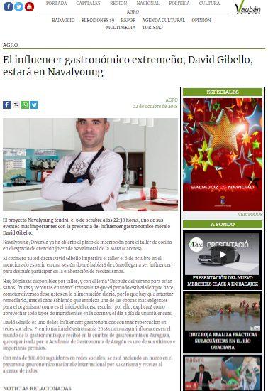 Extremadura 7 dias, Taller de cocina Navalyoung.