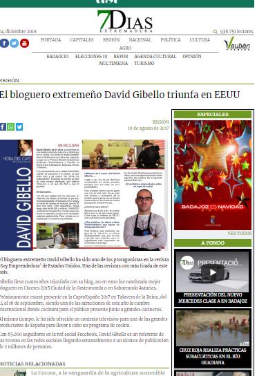 Extremadura 7 dias, Triunfa en EEUU