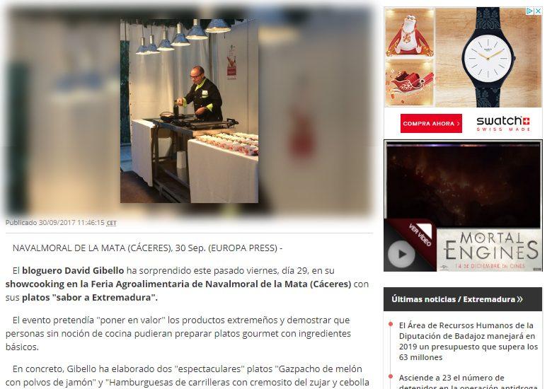 Europa Press, Feria Agroalimentaria de Navalmoral