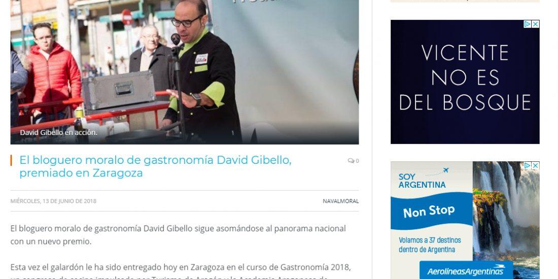 Navalmoral digital, Premio Zaragoza