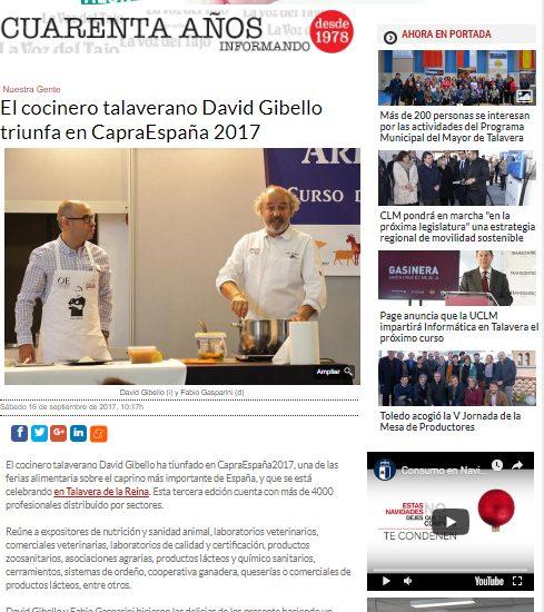 La voz del Tajo, CapraEspaña 2017