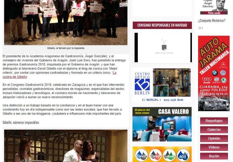 Ahoraclm, Premio Gastromania