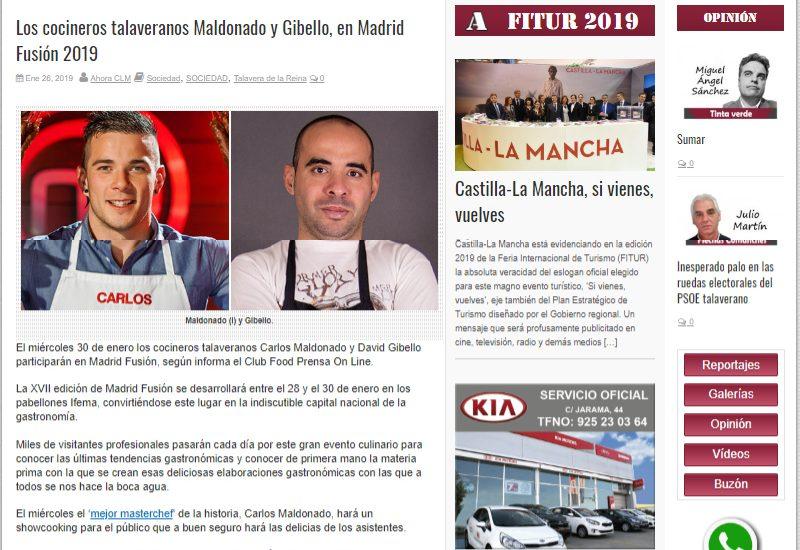 Ahoraclm. Madrid Fusion 2019