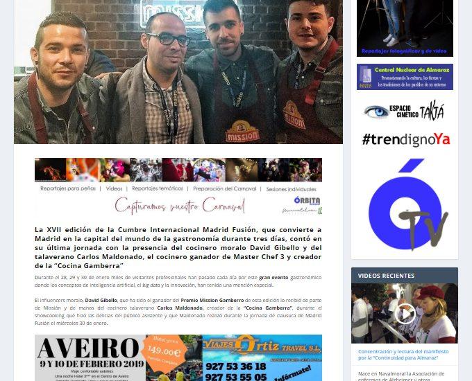Orbita Navalmoral. Madrid fusion 2019