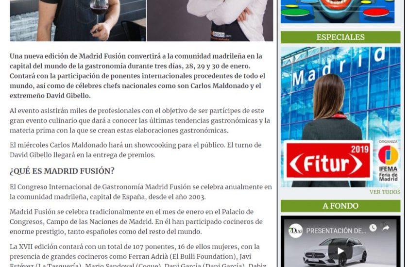 Extremadura 7 dias, Madrid Fusion 2019