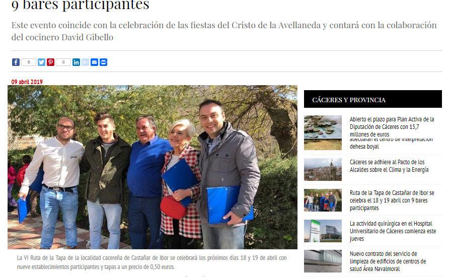 Region Digital. Ruta de la tapa Castañar de Ibor 2019