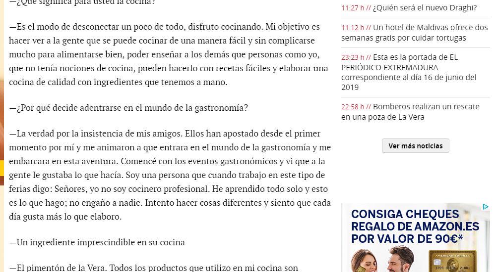 Entrevista. El periodico de Extremadura