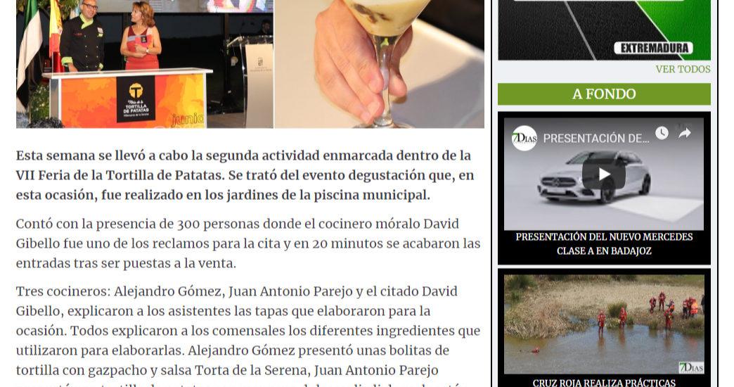 Extremadura 7 dias. Feria de la tortilla de patatas