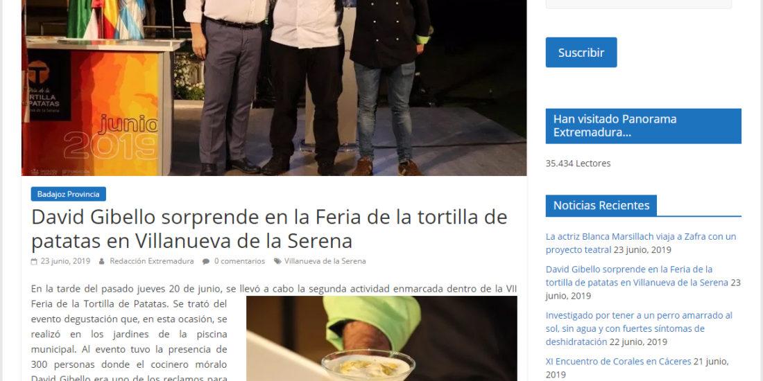 Panorama Extremadura. David Gibello sorprende en la feria de tortilla de patatas