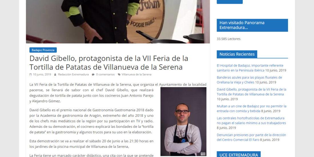 Panorama Extremadura. Feria de la tortilla de patata Villanueva de la Serena