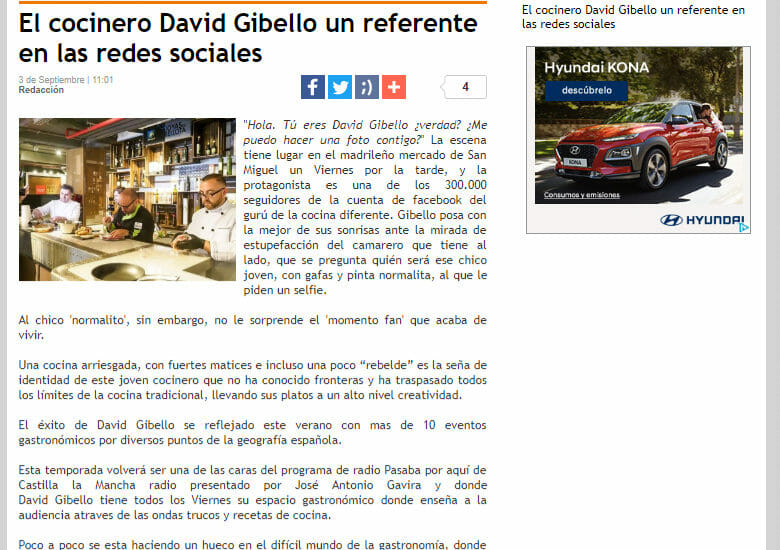El correo de Extremadura, referente de las redes sociales