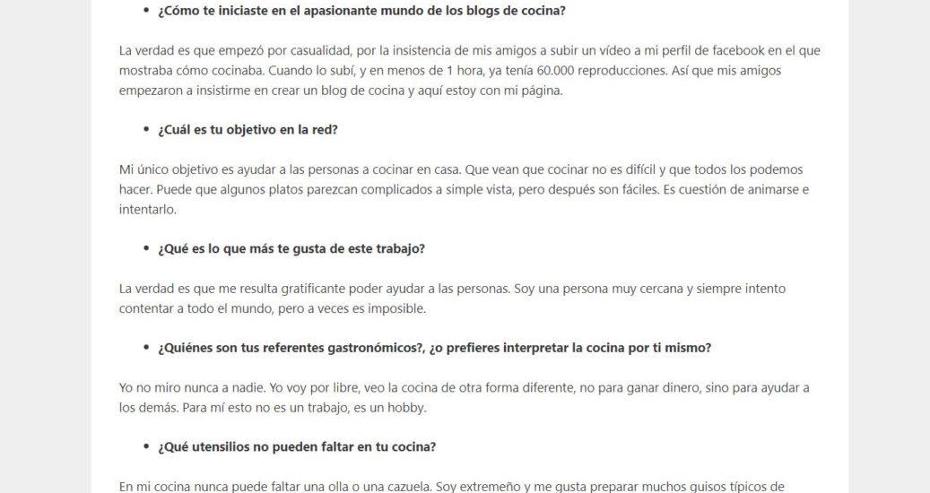 David Gibello, entrevista en Lacocotte