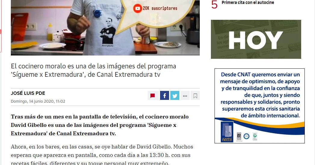 Hoy de Extremadura, David Gibello se hace un hueco en la cocina de los extremeños.