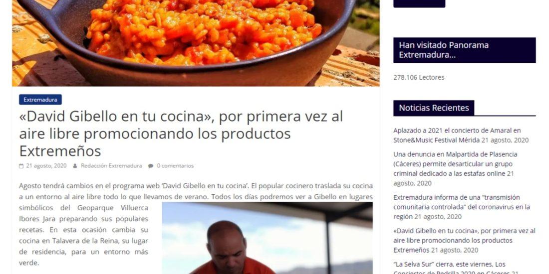 David Gibello en tu cocina Panorama Extremadura