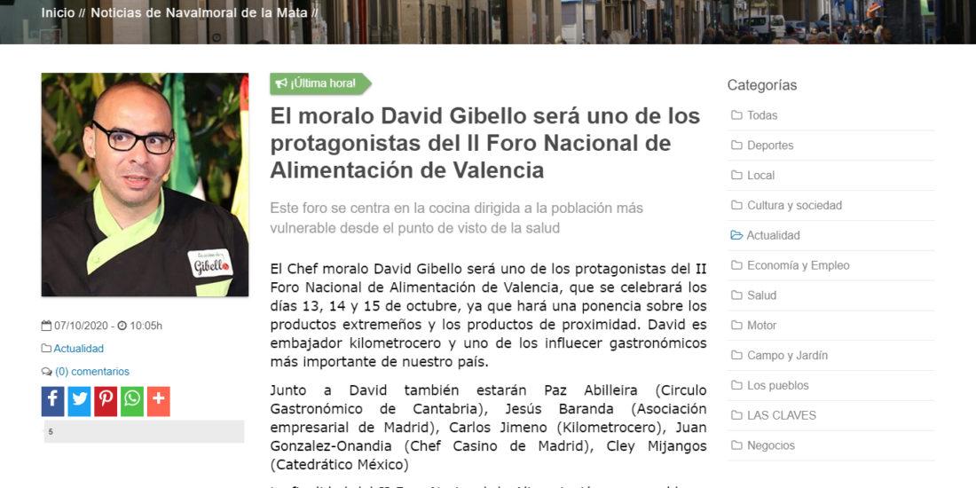 David Gibello Foro alimentacion responsable guia Navalmoral