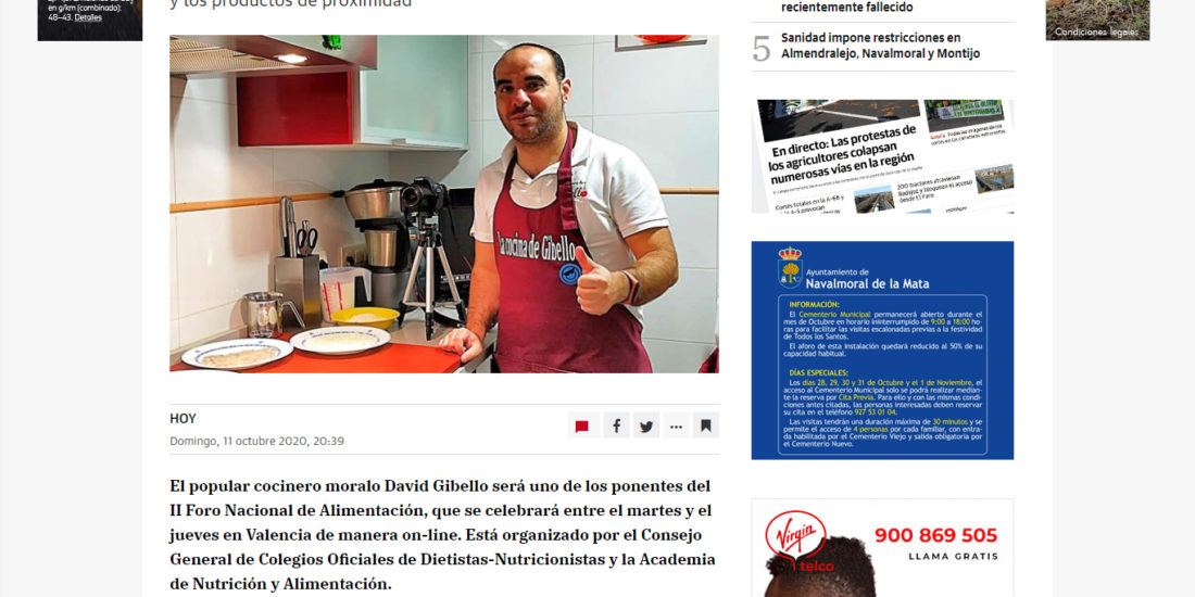David Gibello Foro nacional de alimentacion responsable Hoy de Extremadura