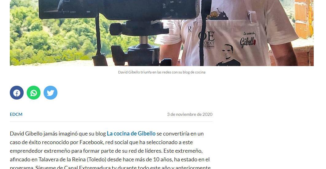David Gibello se convierte lider de facebook El digital Castilla la Mancha