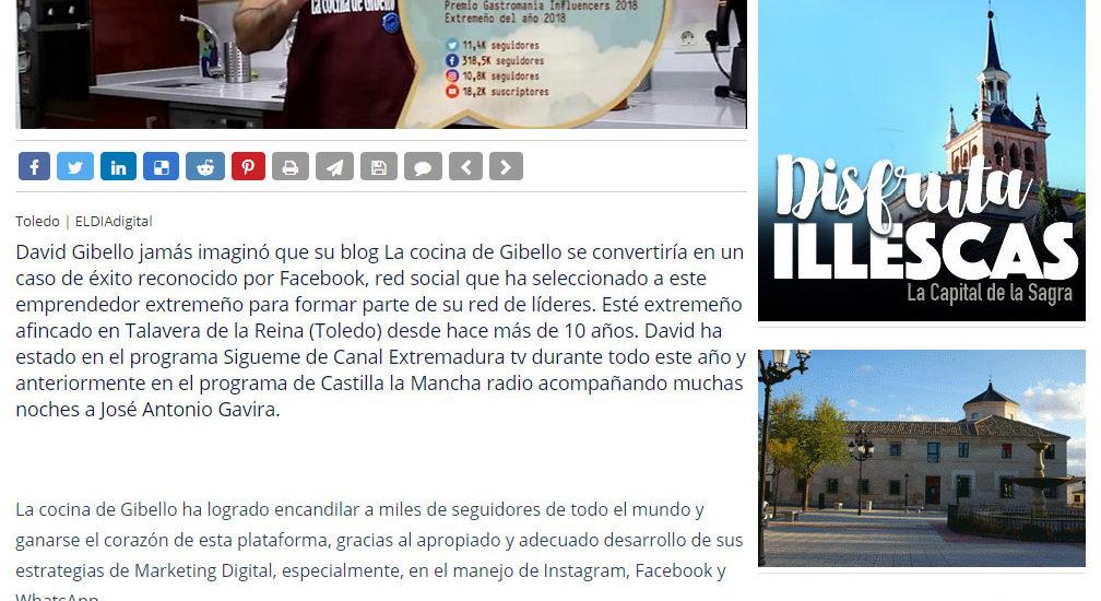 David Gibello lider de facebook El dia digital